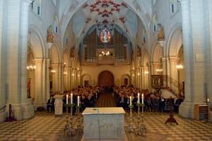 Blick auf die neue Orgel